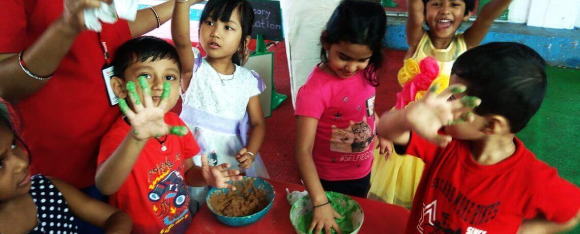 Creative Activities at Jumpstart Preschool Karve Road Pune
