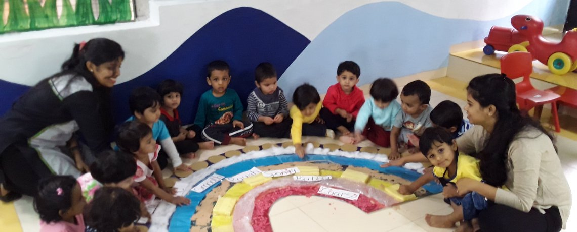 Creative Activities at Jumpstart Preschool Nigdi Pune